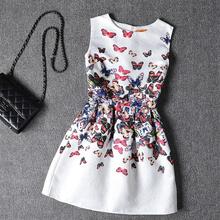 Girls clothes in summer dress Teenage Girls Dresses Kids dresses Girl Elsa Princess Sofia Dress Butterfly dress6-20yrs