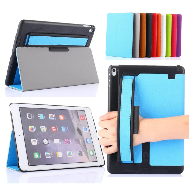 """For Apple iPad Pro 9.7"""" Stand Cover Multifunctional Tablet Case PU Leather Shell Cover for iPad Pro 9.7 Inch with Hand Holder(China (Mainland))"""
