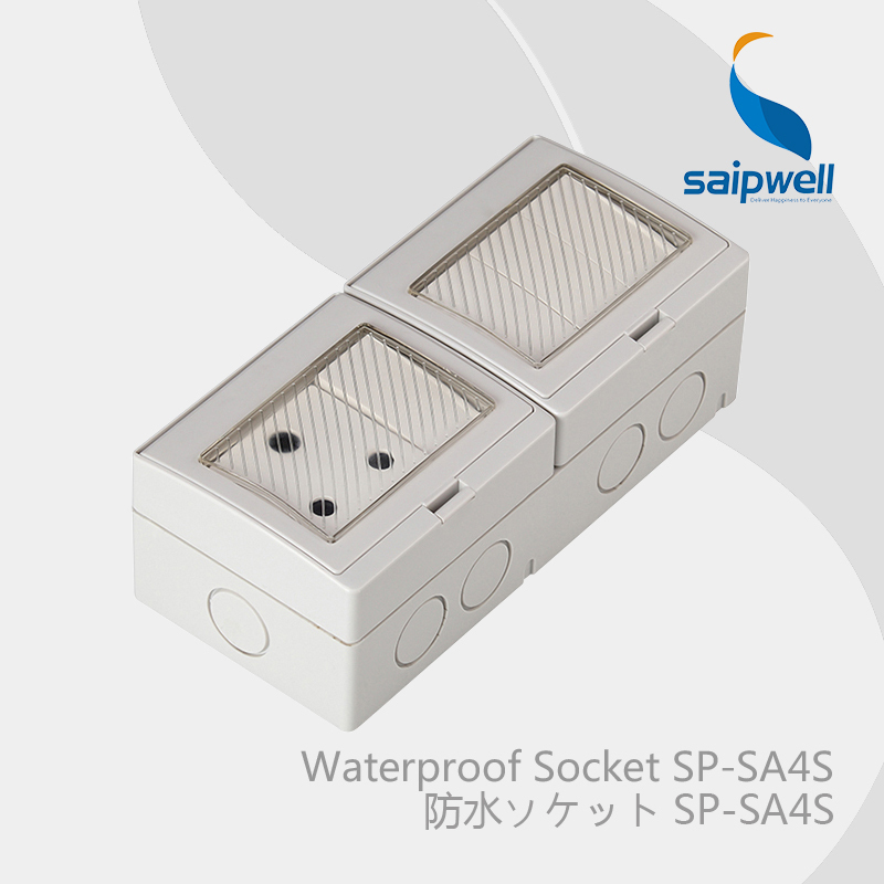 Saipwell Electrical Plugs & Sockets waterproof switch box IP55 Level Double Control South Africa Style (SP-SA4S)(China (Mainland))
