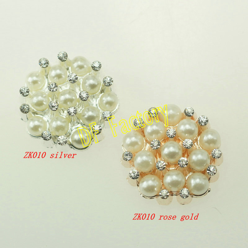 ZK010 Alloy crystal button rhinestone accessories for craft hair accessory handmade(20 pieces/lot )(China (Mainland))