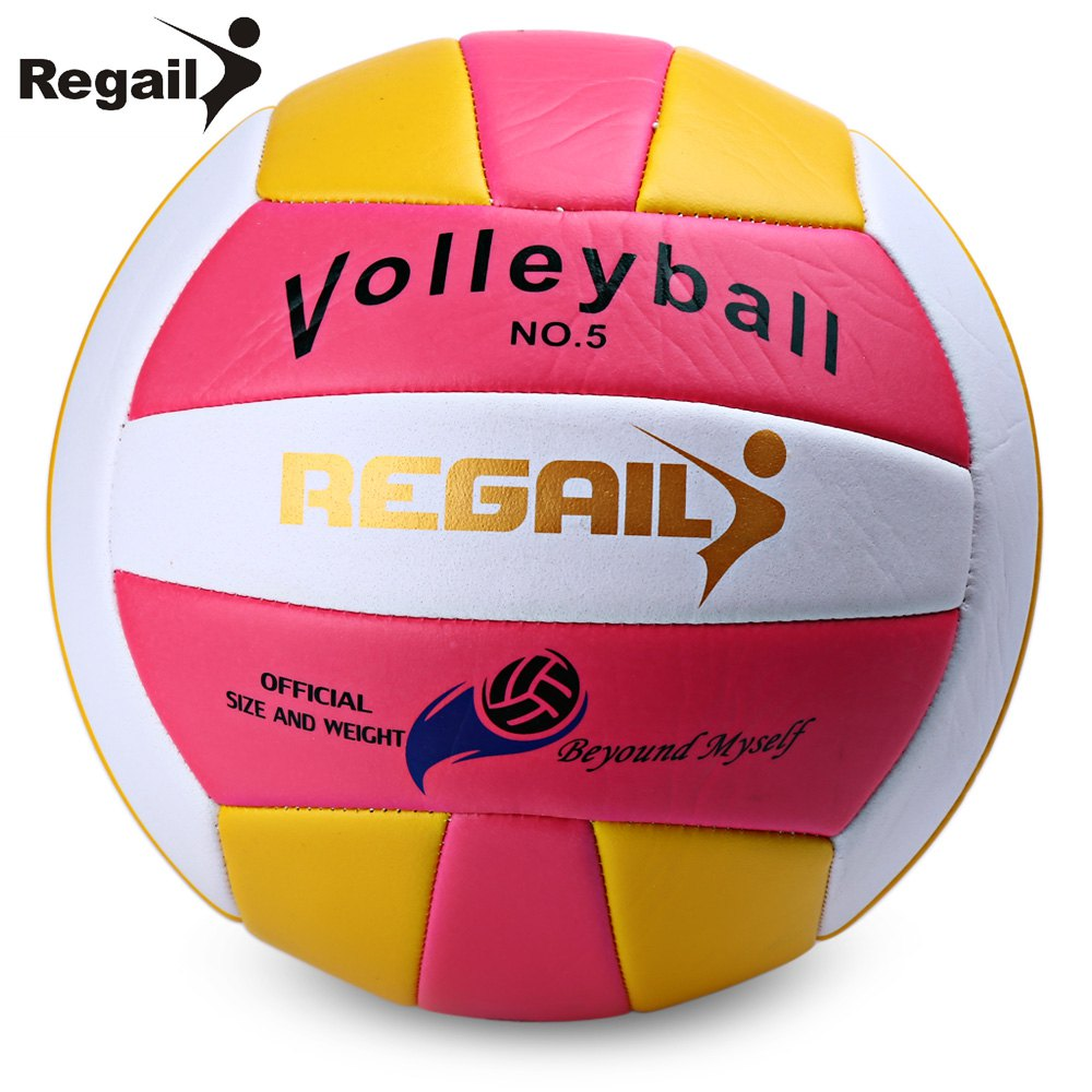 Regail Official Size 5 Weight Volleyball Outdoor Indoor Training Competition Handball Indoor Outdoor Volley Ball 2 Colors(China (Mainland))