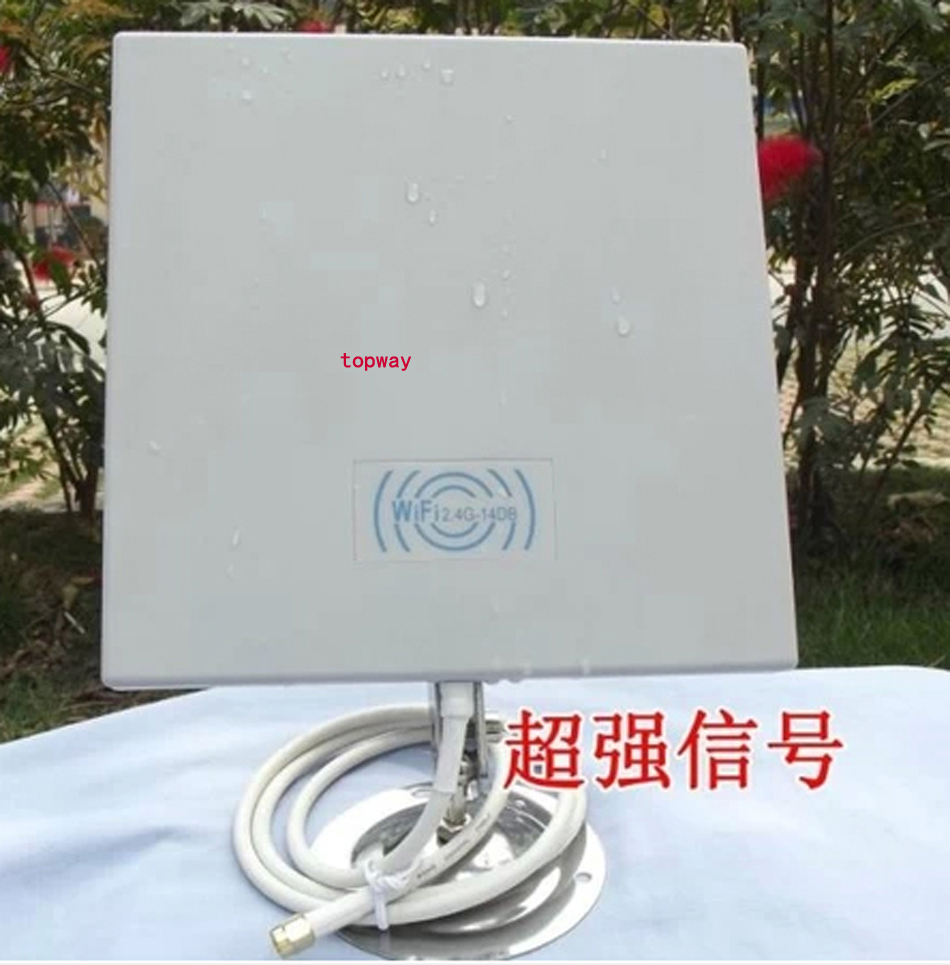 14dB 2.4GMHz Wireless WiFi WLAN Outdoor Panel Antenna , WIFI PANEL antenna with 52METER cable