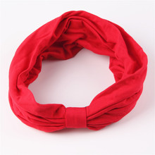New variety of wear method Cotton Elastic Sports Headbands Wide Headband HB054(China (Mainland))