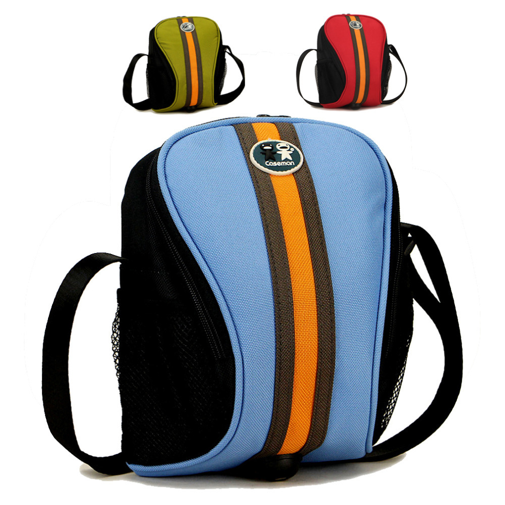 Waterproof Caseman SLR DSLR digital camera bag case shoulder bag insert  for Canon Nikon Sony Blue Green Red<br><br>Aliexpress
