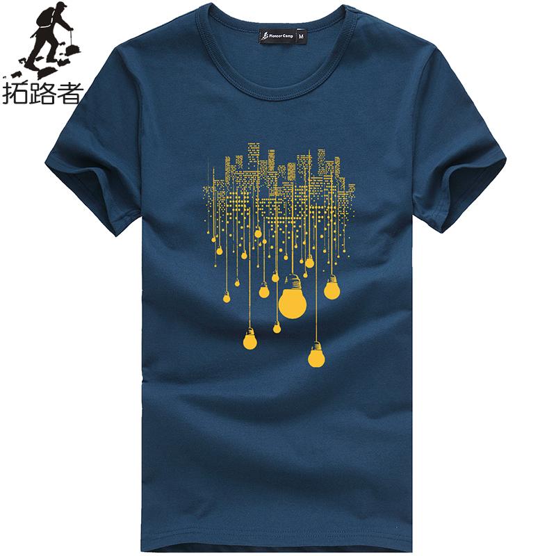 Free shipping!2015 new fashion summer mens t shirt fitness o-neck 100%cotton plus size comfortable t-shirt men clothing print(China (Mainland))
