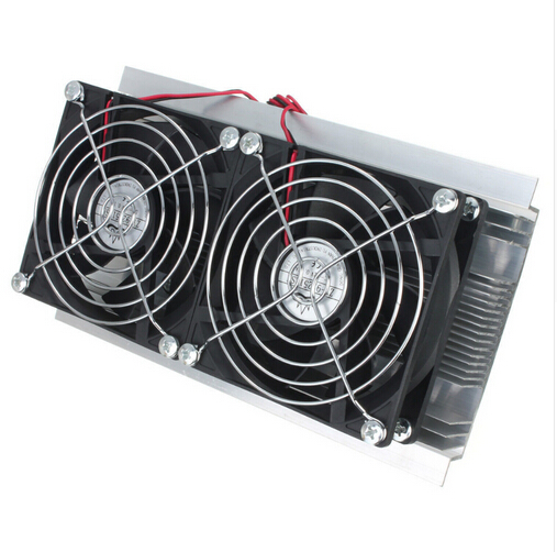 Thermoelectric Cooler Peltier Refrigeration Cooling TEC System Kits Double Fan(China (Mainland))