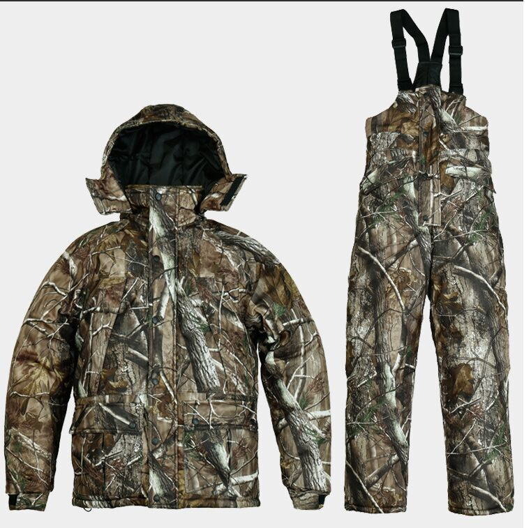 REMINGTON meadow bionic camouflage uniforms mens winter fishing hunting waterproof breathable camouflage jacket + pants suits<br><br>Aliexpress