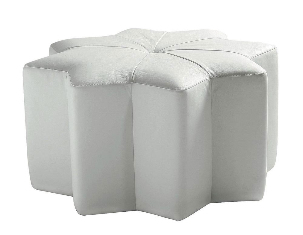 unique designer post modern style top graded cow real leather ottoman/stool living room home furniture octagonal shape(China (Mainland))