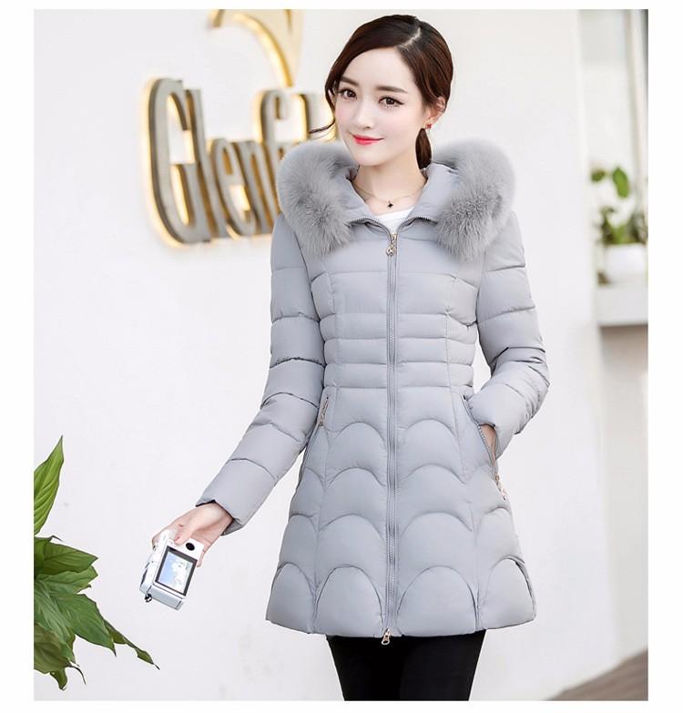 Скидки на Бесплатная доставка 2016 осень и зима новый Тонкий был тонкий с капюшоном пальто в длинный отрезок хлопка одежды женщин