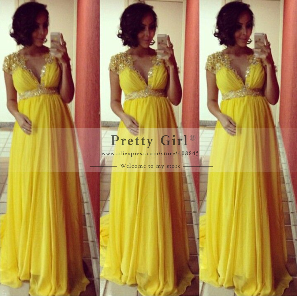 Yellow Plus Size Maternity Bridesmaid Dresses 70