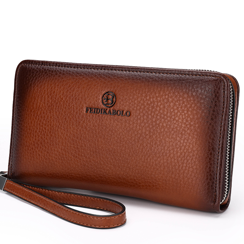 Vintage Mens Wallet Leather Genuine Designer Male Purse Casual Men Wallets Carteira Masculina Famous Brand Clutches Dollar Price - Enjoy your life international trade co., LTD store