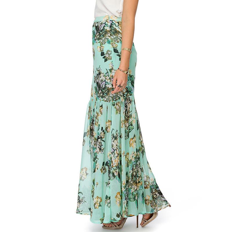 2015 Women's Fashion New Europe and sexy packet buttock broken beautiful chiffon skirts smoke plait to fishtail skirt of tall(China (Mainland))
