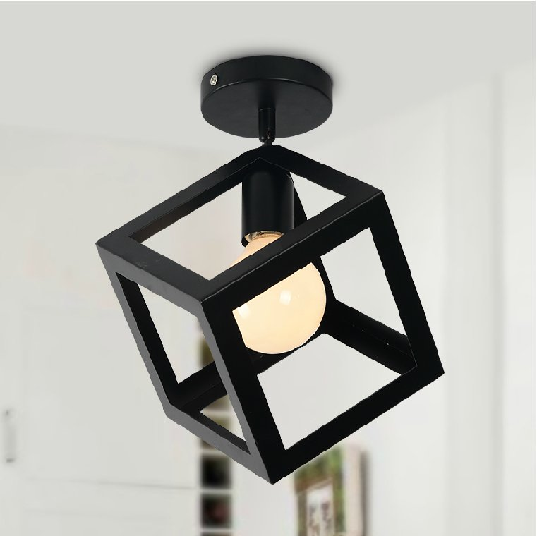 E27 metal industrial style black iron  hanging ceiling lamps living room modern led ceiling lights for living room<br><br>Aliexpress