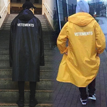 2016ss new vetements oversize raincoat high street youth men and woman thick trench streetwear hiphop (China (Mainland))