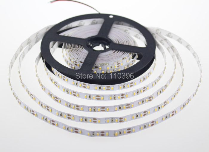 5m 12v 600 led 3014 smd led strip white/warm white non-waterproof tape light(China (Mainland))