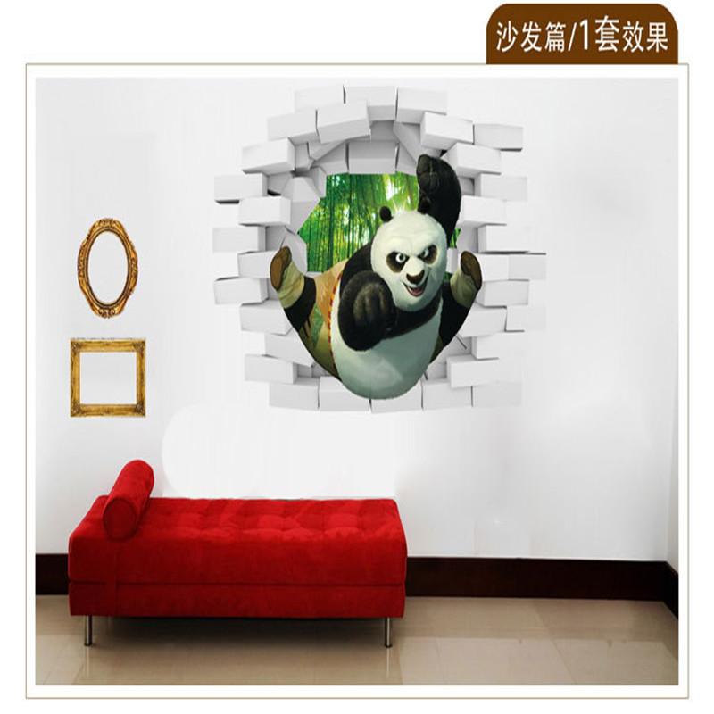 2016 hot sale adesivo de parede stereoscopic 3d effects for Wallpaper decor for sale