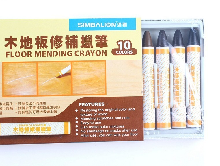 Free shipping 10 color Furniture crayon wood floor repair wax wood floor crayon furniture repair cream repair materials(China (Mainland))