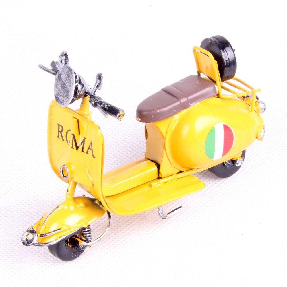 "11cm(4.3"") Mini Metal Vintage Motorcycle Model Classic Motorbike Figurine Retro Motor Bicycle Ornament Kid Toy Home Office Decor(China (Mainland))"