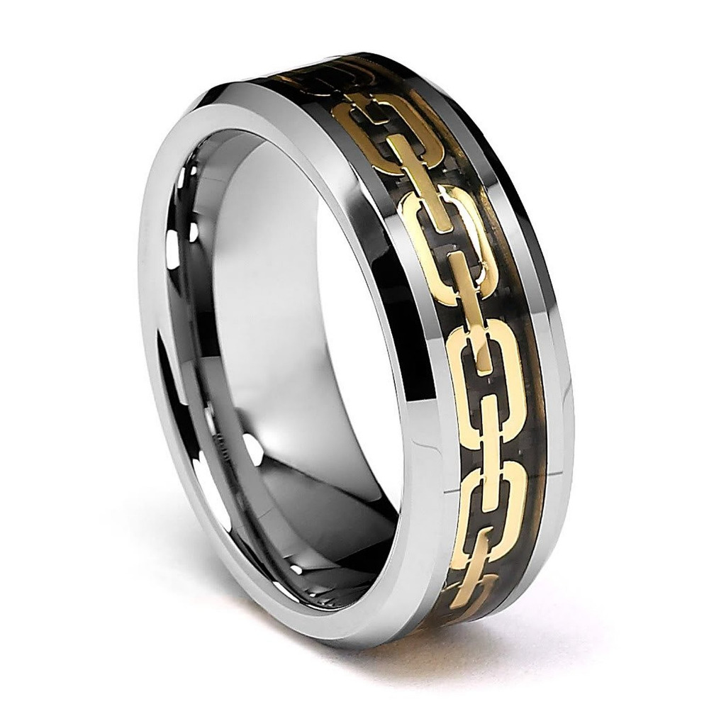 men tungsten wedding bands jewelry statement gold plated. Black Bedroom Furniture Sets. Home Design Ideas