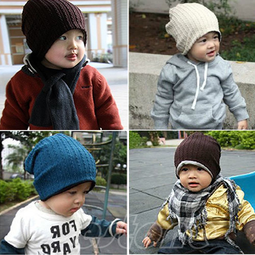 "W110""Hot Sell Baby Infant Toddler Children Beanie Hat Warm Winter Cool Boys Girls Cap free shipping(China (Mainland))"