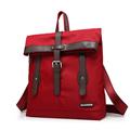 Retro Crossbody Women Patchwork Contrast Color Backpack Fashion Flap Belt Buckle Bag Practical Durable Nylon Backpack0