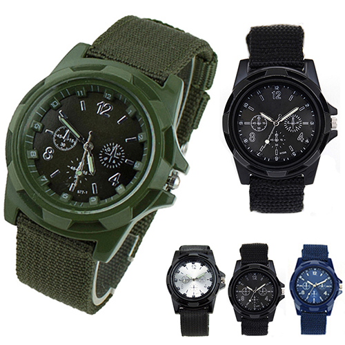High Quality Canvas Belt Solider Style watches for Men Fabric Strap Luminous Army Wrist Watches <br><br>Aliexpress
