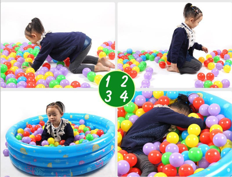 200pcs/lot Eco-Friendly Colorful Soft Plastic Pool Ball Tent Water Pool Ocean Ball Baby Funny Toys 5.5cm Ball Pool  for  kids(China (Mainland))