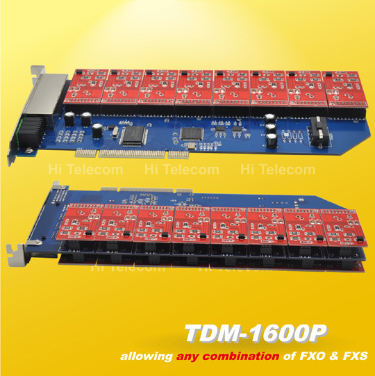 NEW Free shipping TDM1600P 16 port asterisk fxo/fxs pci card TDM800P TDM410P TDM400P TDM2400P asterisk ip pbx