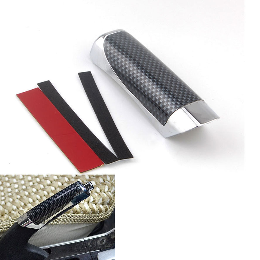 Universal Car Carbon Fiber Style E Hand Brake Handle Hand Protect Brake Cover Decoration ABS Fit For A3 A7 Quattro Q5 X3 Z4 ect