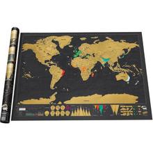 82.5 x 59.4 cm 2015 nuevo diseño negro Deluxe rascar mapa arañazos mapa del mundo mejor regalo para la escuela de educación(China (Mainland))