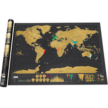 1pcs New Design Black Scratch Map Travel Scratch Map World Map Best gift for Home Decor Classic map for Educatioin School