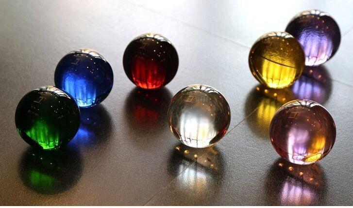 60mm6pcs Mixed color large decorative glass balls