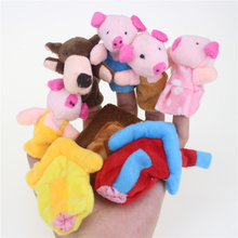 Buy 8 Pcs/lot Three Little Pigs Finger Puppet Happy Family Fun Finger Hand Puppet Kids Learning & Education Toys Gifts Wholesale for $3.64 in AliExpress store