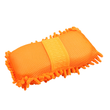 Car Wash Brush Gloves Cleaning Sponge Car Window Glass Washer Cleaner Microfiber Ultrafine Washer Sponge Brush Clean Tools(China (Mainland))