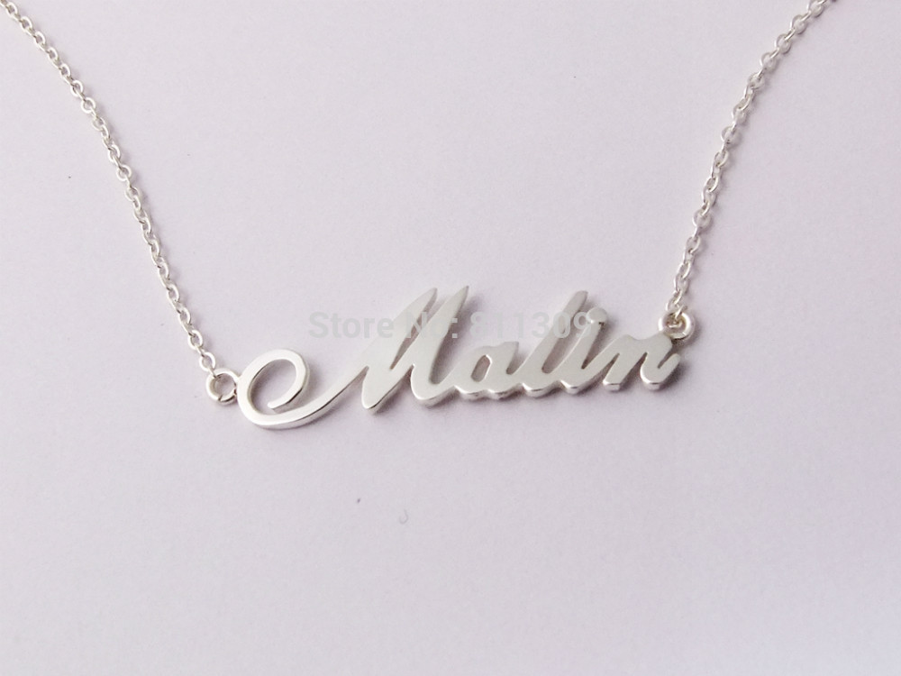custom name necklace personalized necklace 925 silver