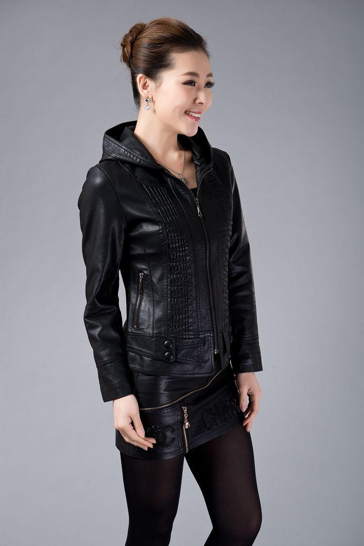 Free Shipping Leather Jacket Women 2015 New Fashion Leather Jackets Womens 3XL Plus Size Women ...