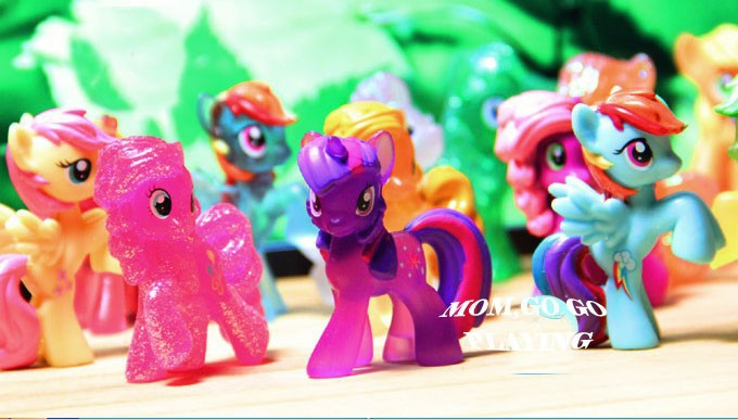 10~20PCS/Lot  Different  Little Horse Loose Toys For Children Gift Very Cute Cartoon  Action Figures Vinyl Doll FA0002(China (Mainland))