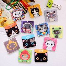 3Pcs/Pack Cute Cartoon Cats Magnetic Bookmark Mini Paper Clip School Office Supply Escolar Papelaria Unique Stationery #ZX07(China (Mainland))