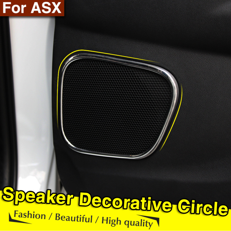 Fit For Mitsubishi ASX 2012 2013 2014 Interior Door Audio Speaker Frame Cover Trim Car Styling(China (Mainland))