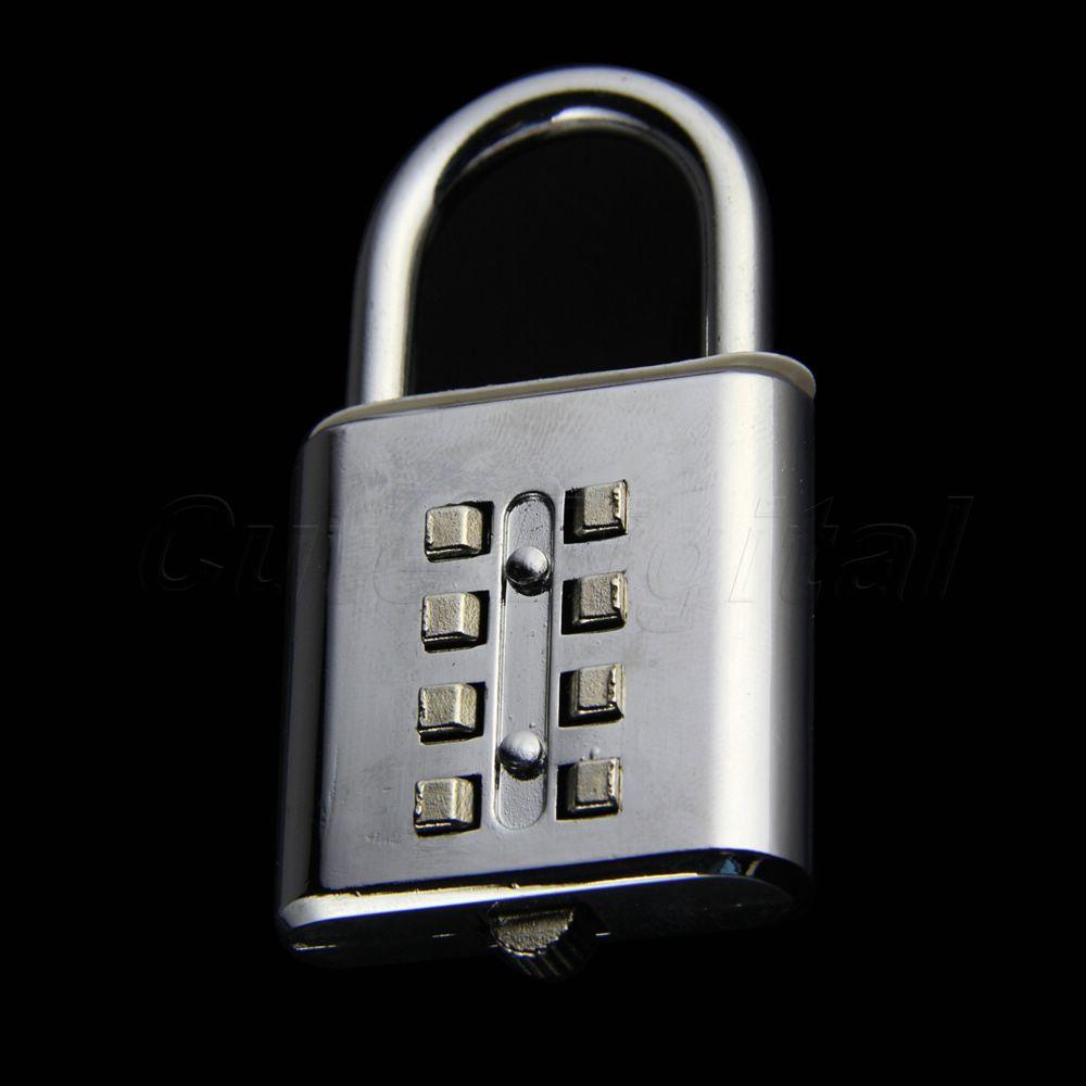 Promotion 10PCS 8 Digit Security Combination Code Padlock Travel Luggage cabinet Lockers Lock Resettable Tool Box
