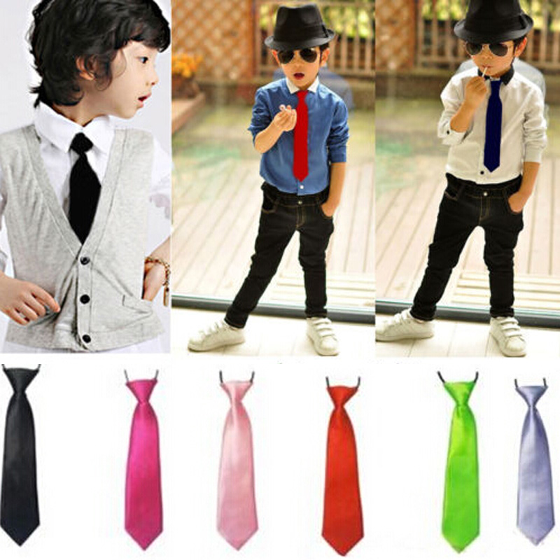 1PCS Free Shipping Students Children Tie Baby Pre Tied Tie Boy Girl Neckties Wedding Party Performance Accessories(China (Mainland))