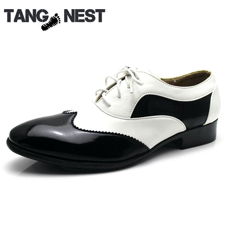 Men's PU Leather Wedding Flats Spring&Autumn White Black Business Lace-Up Men's Shoes Formal Dress Shoes Size 38-44 XMP528(China (Mainland))