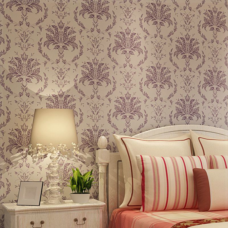 Wedding Bedroom Wall Decoration : Hot sale europe style wallpaper colors floral wall paper