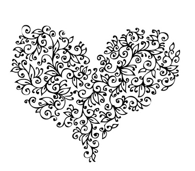 Home Living Wall Stickers Heart Sticker Creative Decal Valentine Love Hearts Home  Vinyl Black White Multicolor Wall Stickers
