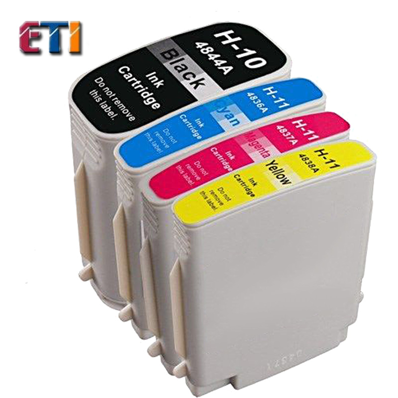 4 Pack Ink Cartridge For HP 10 11XL Officejet 9110 9120 9130 K850 1000 1100 Inkjet 1000 1100 1200 2200 2230 2250 2280 2300(China (Mainland))