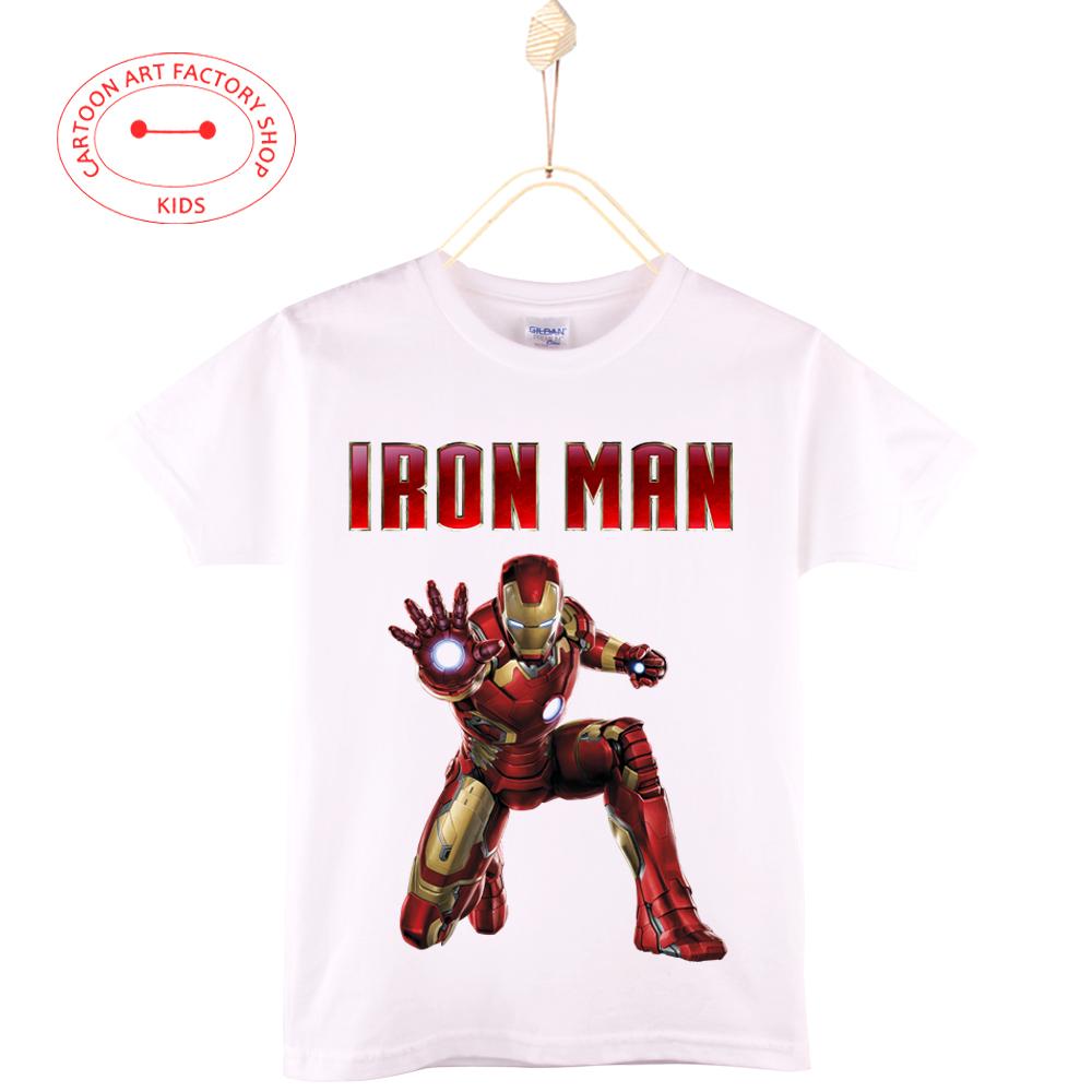 Iron Man Tony Stark Robert Downey Jr 3d print kids T Shirt baby Cotton boys t