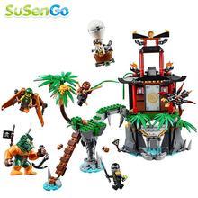 48Super Heroes Phantom Ninja Tiger Widow Island Building Blocks Minifigures Nya Cole Wu Sqiffy Compatible Lego - SuSenGo Toys store