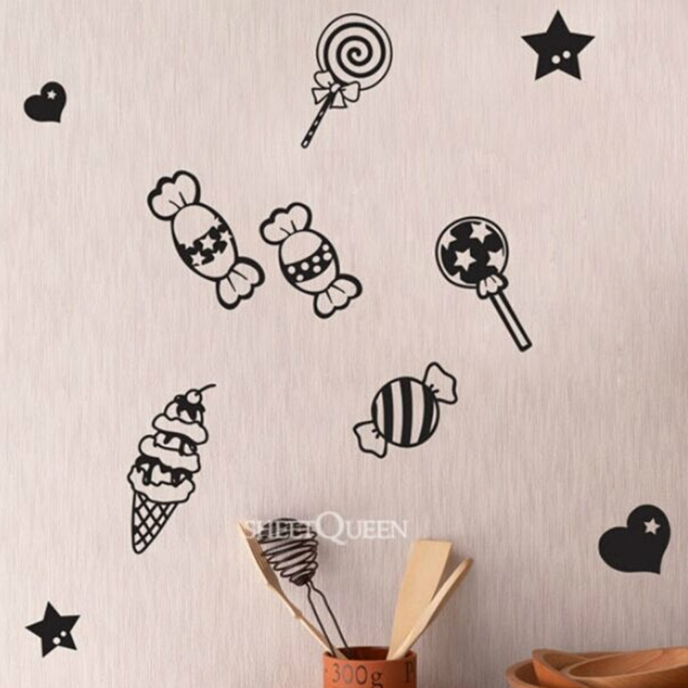 2015 DIY wall art candy simple modern style Creative New home decoration wall stickers living room lamps