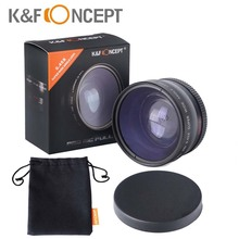 K&Fconcept 58mm 0.45x Multi-coated Super Wide Angle  Macro lens Camera  for Canon EOS 350D/ 450D/ 500D/ 1000D/ 550D/ 600D/ 1100D(China (Mainland))