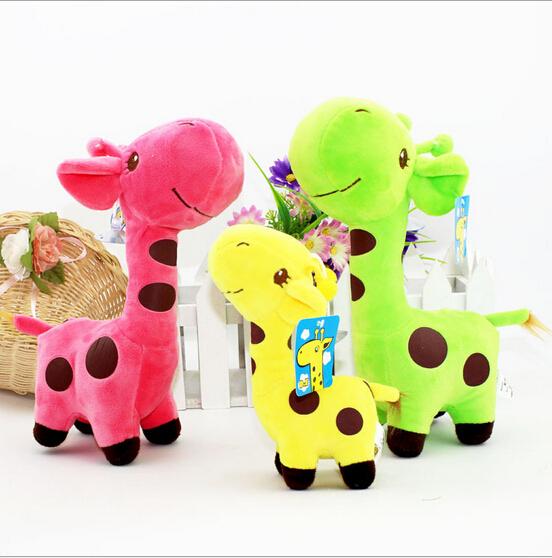 Cute  Giraffe Plush Play Toy Colorful Birthday Wedding Animal Dolls Gift Christmas Gift(China (Mainland))